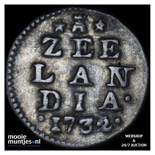 Zeeland - Dubbele wapenstuiver - 1732 over 31 (kant A)