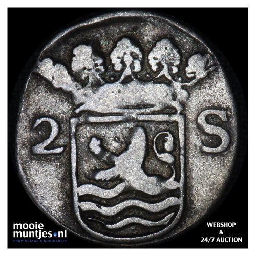 Zeeland - Dubbele wapenstuiver - 1701 (kant B)