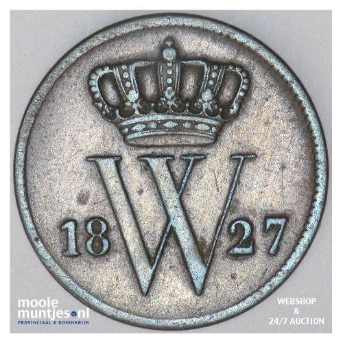 1 cent - Willem I - 1827 Utrecht (kant A)