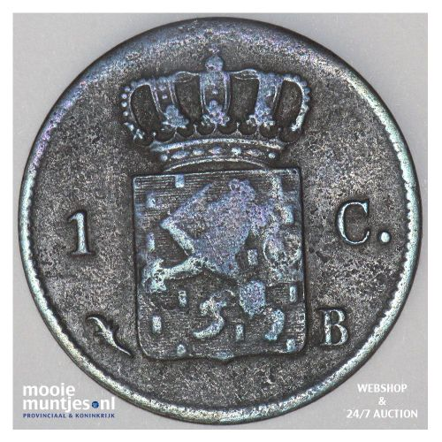 1 cent - Willem I - 1827 Brussel (kant B)