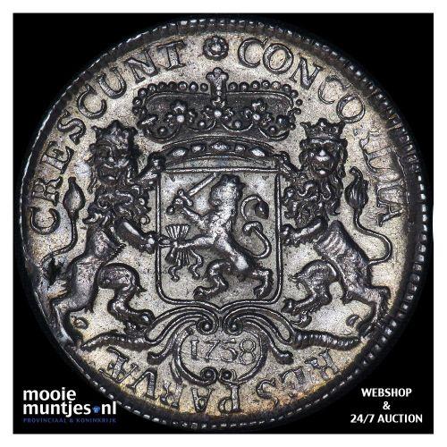 Zeeland - Zilveren rijder of dukaton - 1758 (kant A)