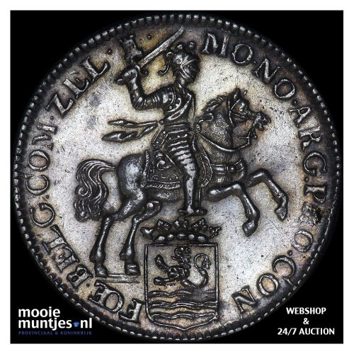 Zeeland - Zilveren rijder of dukaton - 1758 (kant B)