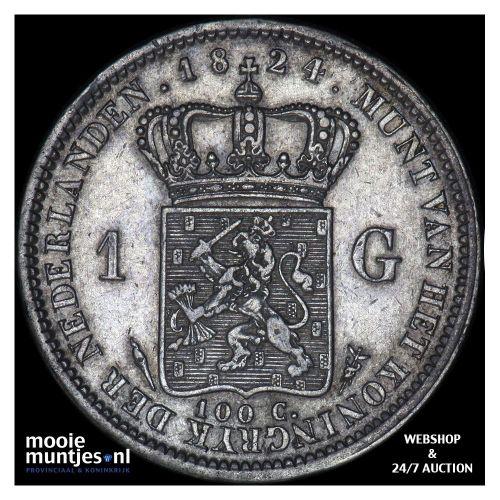 1 gulden - Willem I - 1824 a (kant A)