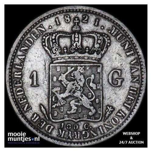 1 gulden - Willem I - 1821 Utrecht (kant A)