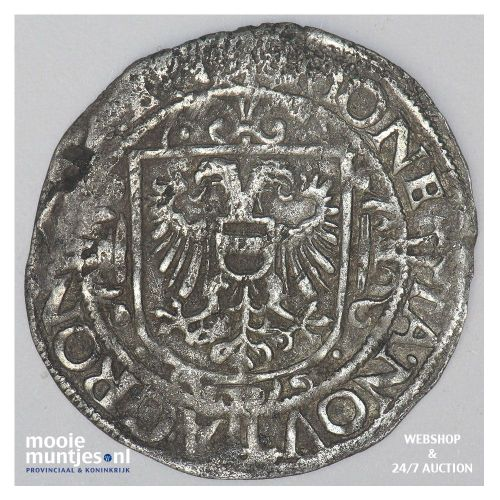 Stad Groningen - Vier stuiver of flabbe - 1627 (kant B)