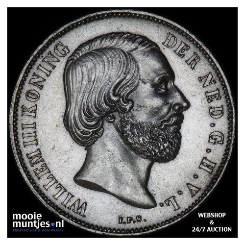 1 gulden - Willem III - 1864 (kant B)
