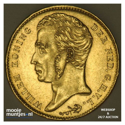 10 gulden - Willem I - 1825 Brussel (kant B)
