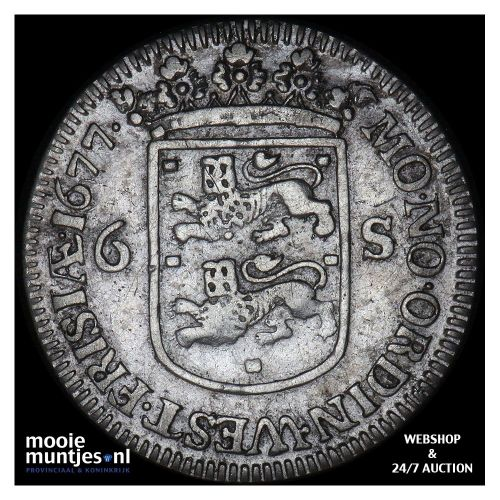 Geoc. Munt van Enkhuizen - Scheepjesschelling - 1678 (kant A)