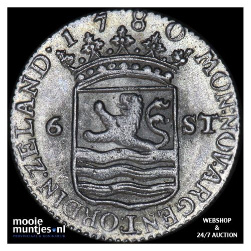 Zeeland - Scheepjesschelling - 1780 (kant A)