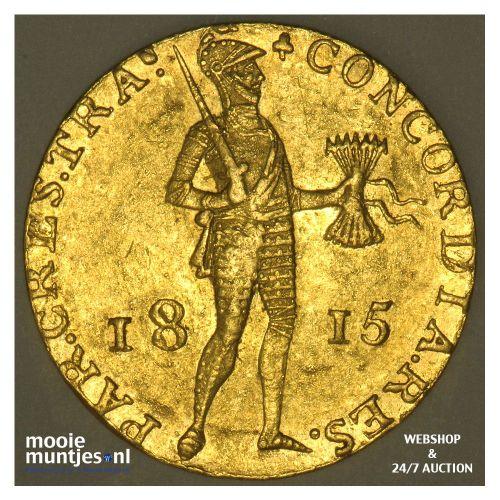 Gouden dukaat - Willem I - 1815 (kant A)