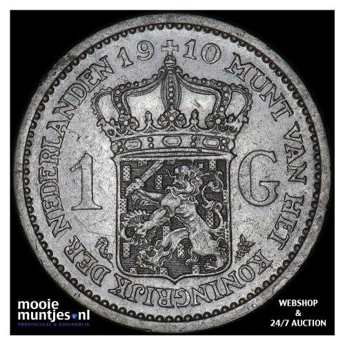 1 gulden - Wilhelmina - 1910 (kant A)