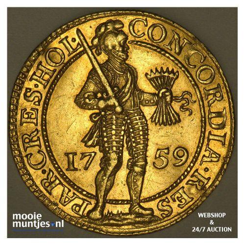 Holland - Dubbele gouden dukaat - 1759 (kant A)