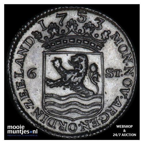 Zeeland - Scheepjesschelling - 1753 piedfort (kant A)