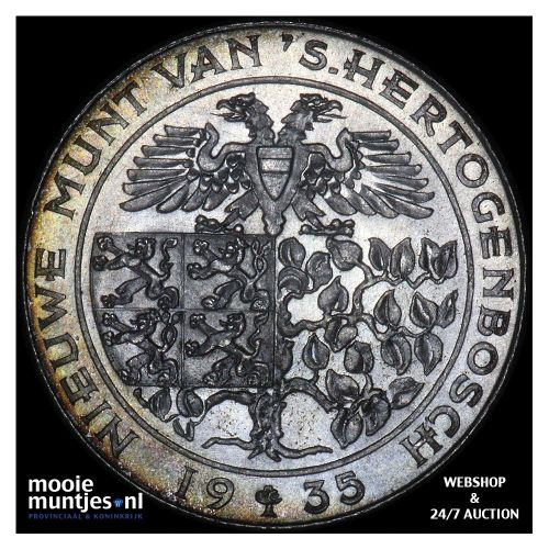 1 gulden - Wilhelmina - 1935 (kant A)