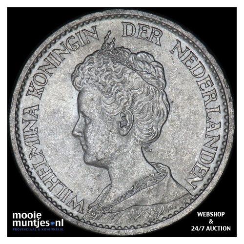 1 gulden - Wilhelmina - 1911 (kant B)