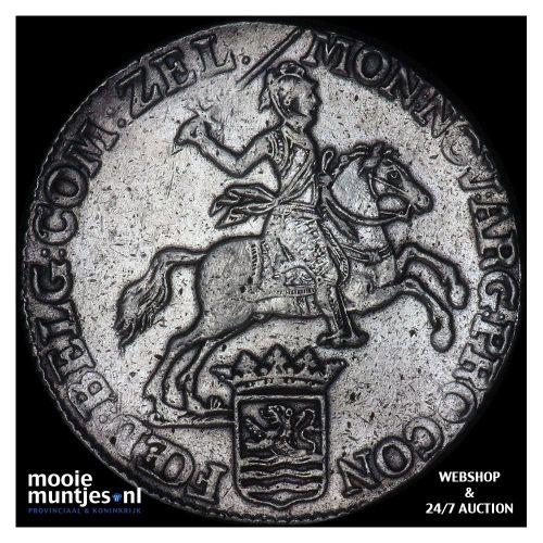 Zeeland - Zilveren rijder of dukaton - 1772 (kant B)