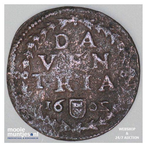 Deventer - Duit - 1602 (kant A)