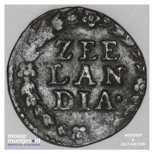 Zeeland - Duit - 1663 (kant B)