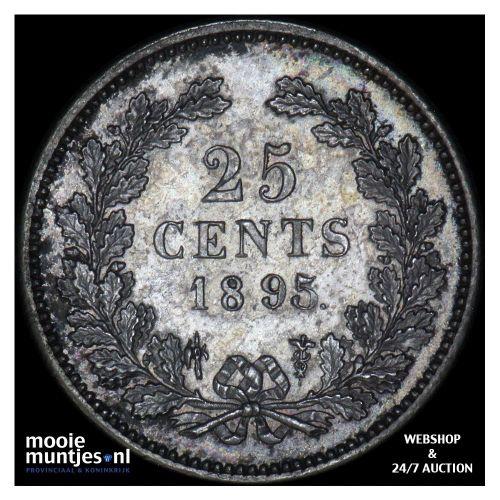 25 cent - Wilhelmina - 1898 (kant A)