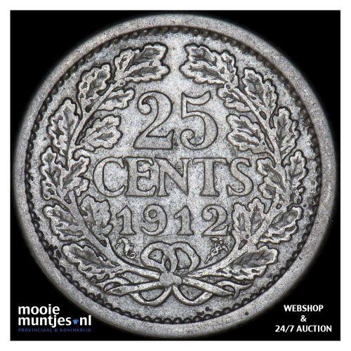 25 cent - Wilhelmina - 1911 (kant A)