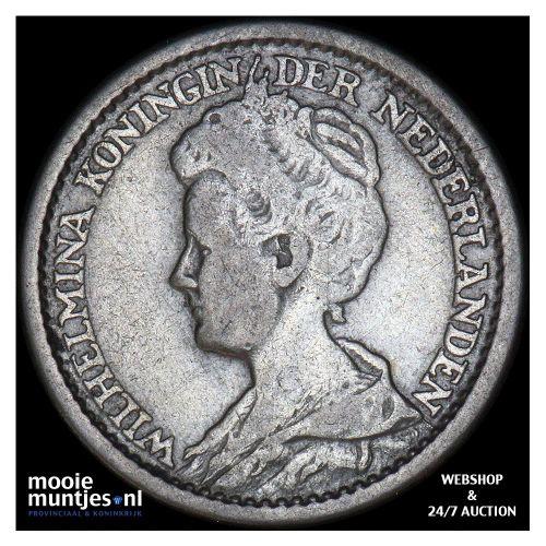 25 cent - Wilhelmina - 1911 (kant B)