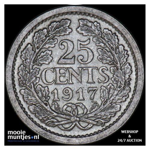 25 cent - Wilhelmina - 1910 (kant A)