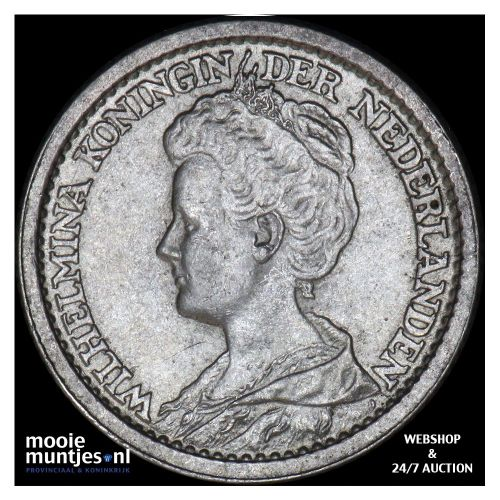 25 cent - Wilhelmina - 1910 (kant B)