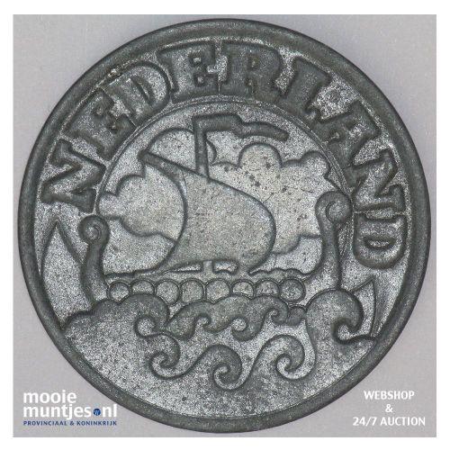25 cent - Wilhelmina - 1942 (kant B)