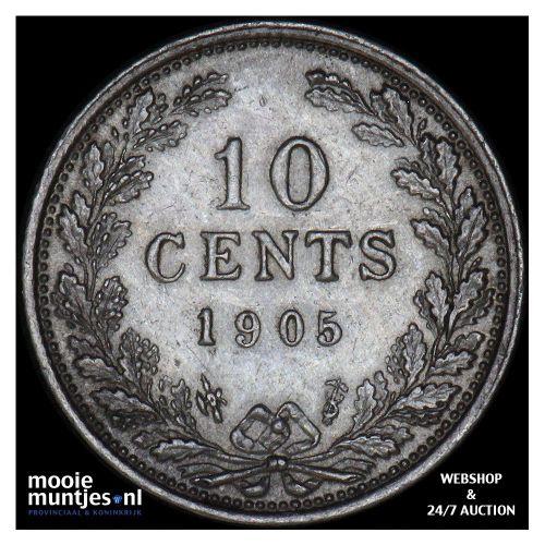 10 cent - Wilhelmina - 1901 (kant A)