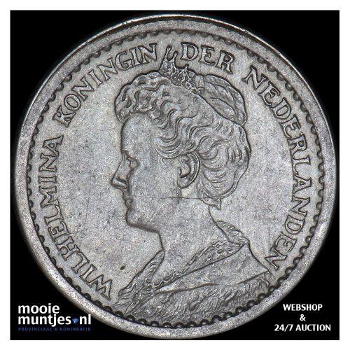 10 cent - Wilhelmina - 1912 b (lage kroon) (kant B)