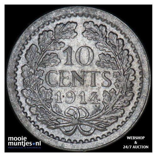 10 cent - Wilhelmina - 1913 (kant A)