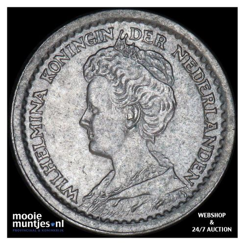 10 cent - Wilhelmina - 1913 (kant B)
