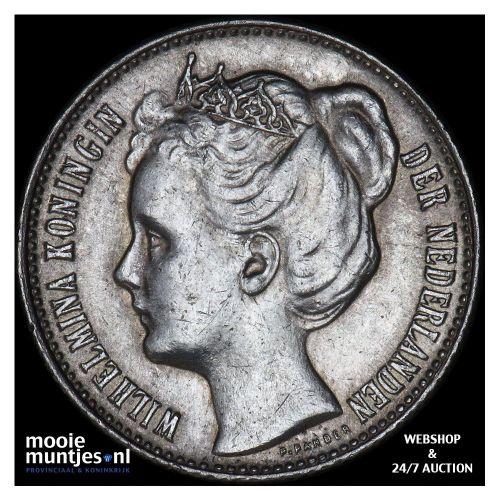 ½ gulden - Wilhelmina - 1905 (kant B)