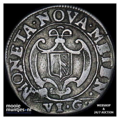 6 groschen (1/2 franc) - German States/Metz 1641 (KM 4) (kant B)