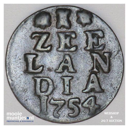 Zeeland - Duit - 1754 (kant A)
