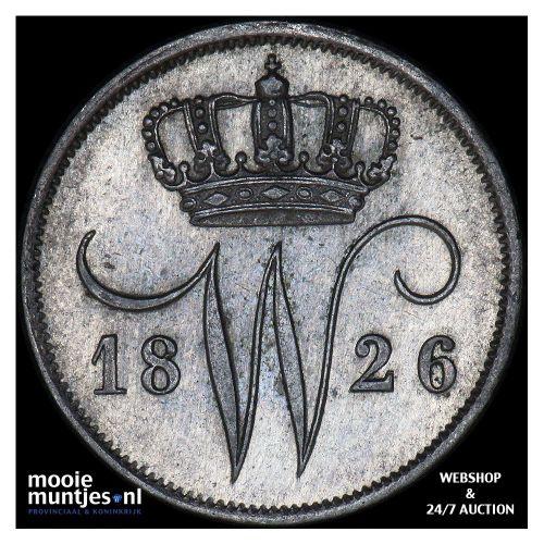 10 cent - Willem I - 1826 Utrecht (kant A)