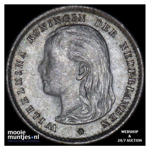 10 cent - Wilhelmina - 1895 (kant B)