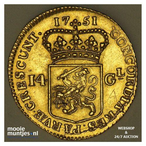 West-Friesland - Zilveren rijder of dukaton - 1771 (kant A)