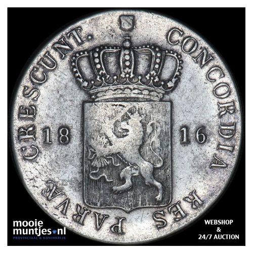 Zilveren dukaat - Willem I - 1816 (kant A)