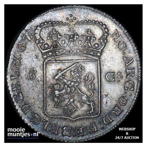 Gelderland - Driegulden - 1786 (kant B)