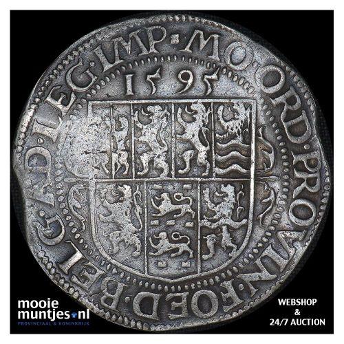 Utrecht - Leicesterrijksdaalder, zeven provinciewapens - 1595 (kant A)