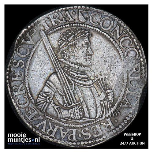Utrecht - Leicesterrijksdaalder, zeven provinciewapens - 1595 (kant B)