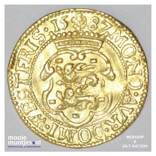 West-Friesland - Hongaarse gouden dukaat - 1587 (kant A)