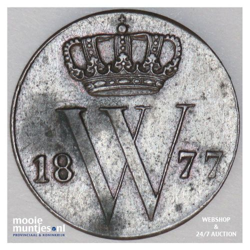 ½ cent - Willem III - 1977 (kant A)