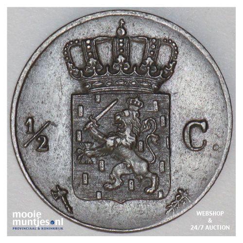 ½ cent - Willem III - 1977 (kant B)