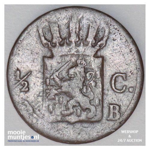 ½ cent - Willem I - 1822 (kant B)