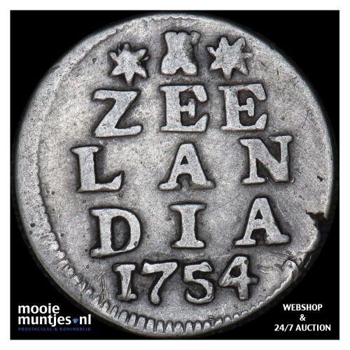 Zeeland - Dubbele wapenstuiver - 1730 (kant A)