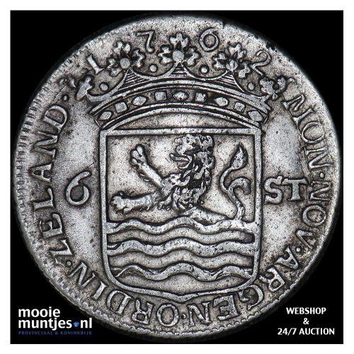 Zeeland - Scheepjesschelling - 1762 (kant A)