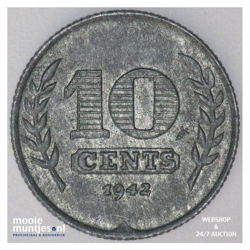 25 cent - Wilhelmina - 1941 (kant A)