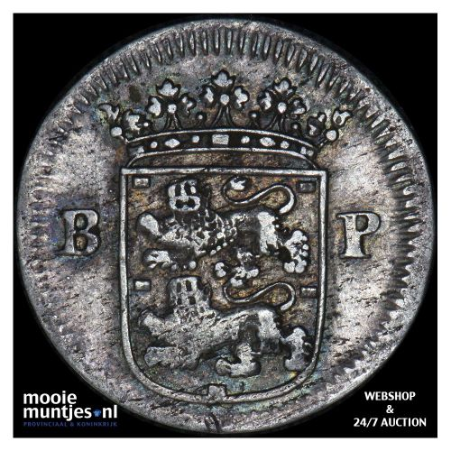 Geoc. Munt van Enkhuizen - Dubbele wapenstuiver - 1676 BP (kant B)